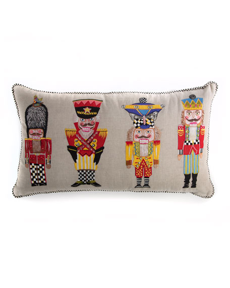 MacKenzie-Childs Nutcracker Brigade Lumbar Pillow