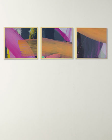 """""""Intersecting Planes"""" Giclee Art Canvases, Set of 3"""