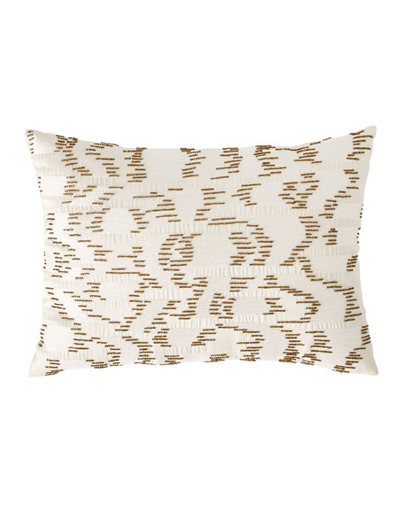 Michael Aram Watermark Embroidered Beaded Decorative Pillow