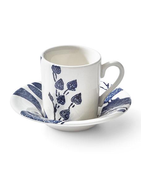 Ralph Lauren Home Burleigh Garden Vine Espresso Cup & Saucer