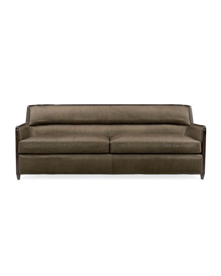 caracole Manhattan Leather Sofa