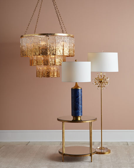 John-Richard Collection Twilight 16-Light Glass Chandelier