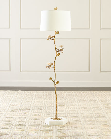 John-Richard Collection Quartz Bloom Floor Lamp