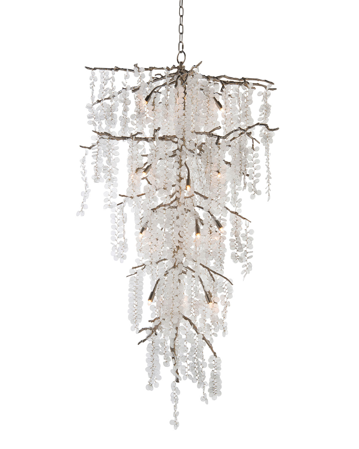 John-Richard Collection Shiro Noda 21-Light  Glass Chandelier