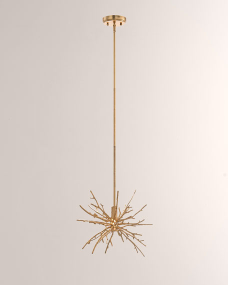 John-Richard Collection Single Drop Spiked Branch Lighting Pendant