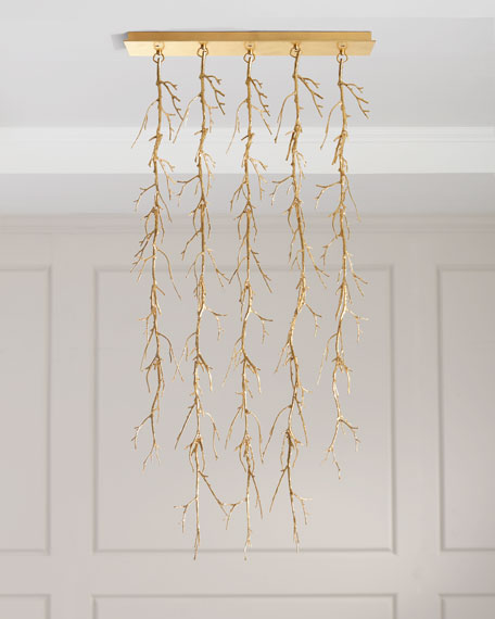 John-Richard Collection 5-Light Spiked Branch Chandelier