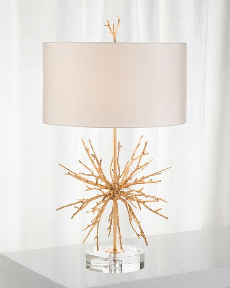 John-Richard Collection Brass Spike Lamp