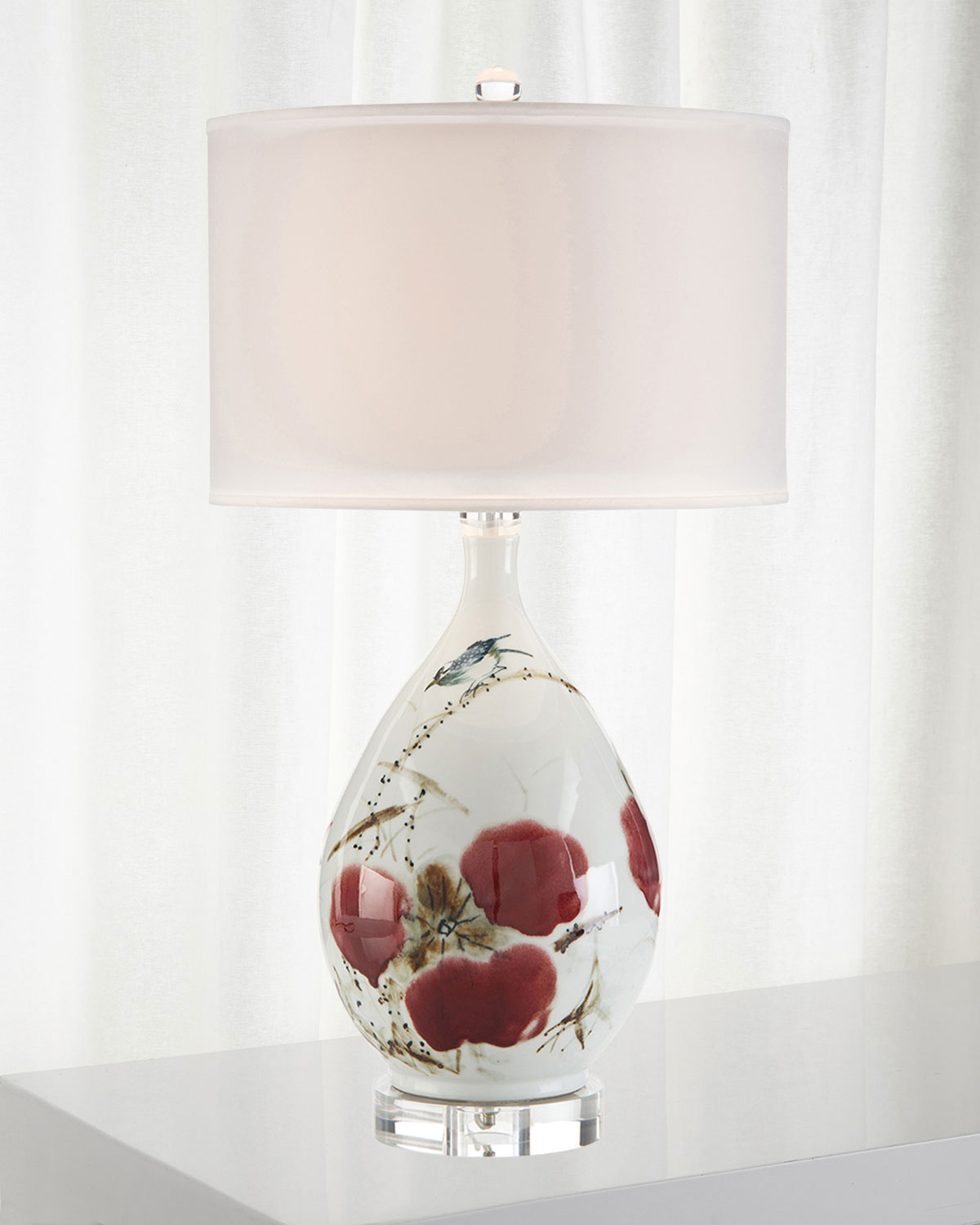 John-Richard Collection Traditional Hand Painted Ceramic Table Lamp