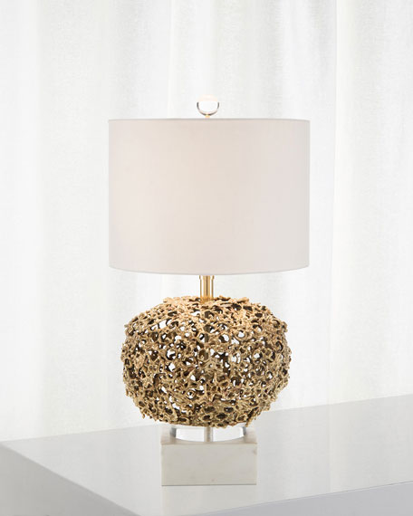 John-Richard Collection Layered Organic Brass Lamp