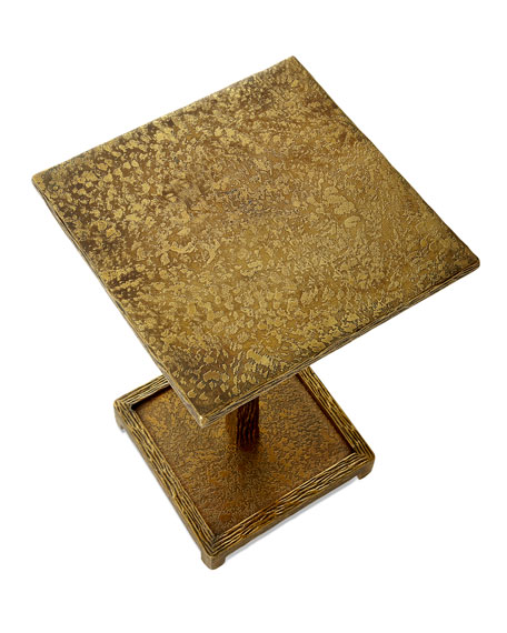 John-Richard Collection Textured Antiqued Brass Martini Table