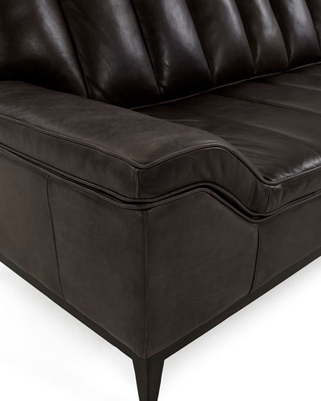 Hooker Furniture Kane Channel Tufted Leather Sofa