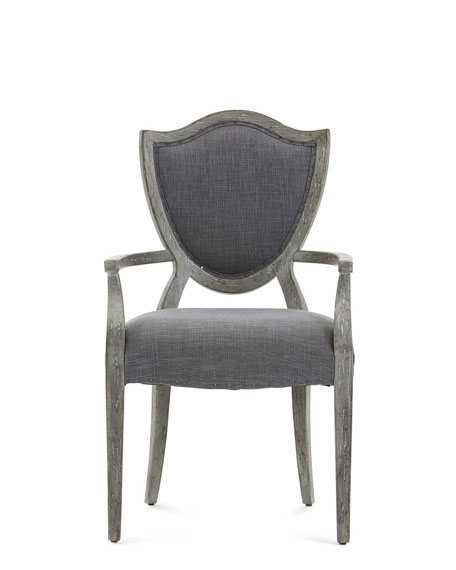 Hooker Furniture Pair of Shield Back Upholstered Arm Chairs