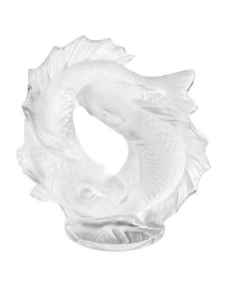 Lalique Small Double Fish Sculpture