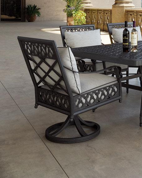 Castelle Biltmore Estate Swivel Dining Chair