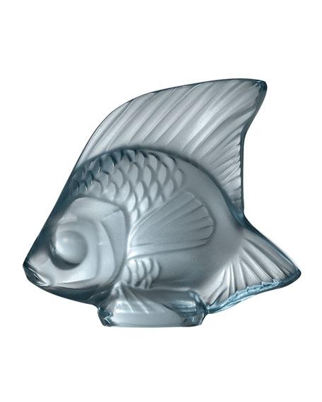 Lalique Fish Sculpture, Persepolis Blue