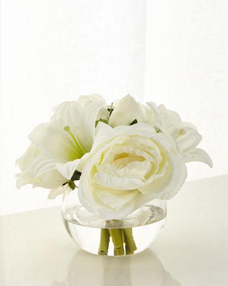 John-Richard Collection Garden Roses and Lilies Arrangement