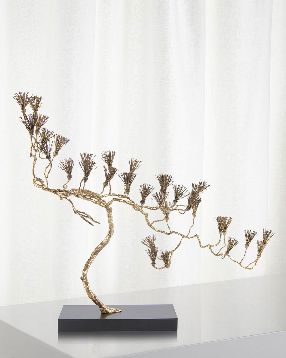 John-Richard Collection Brass Conifer Sculpture
