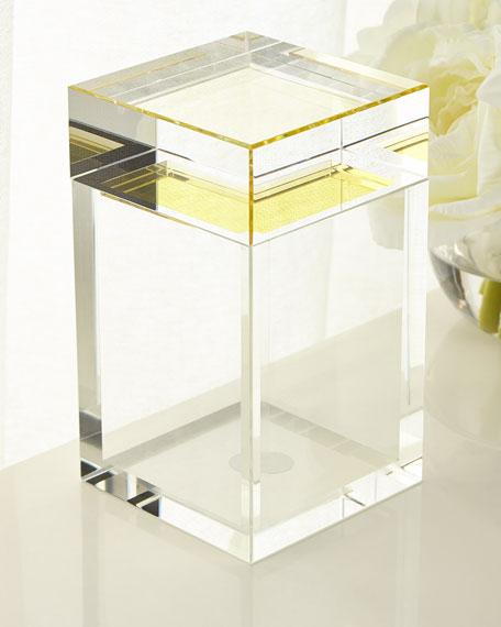 John-Richard Collection Tall Saffron Yellow Crystal Box