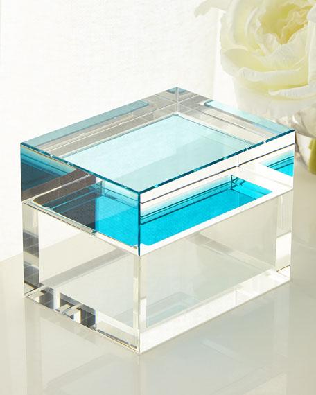John-Richard Collection Aqua Petite Crystal Box