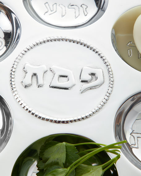 Beatriz Ball Judaica Seder Plate with Metal Pearls