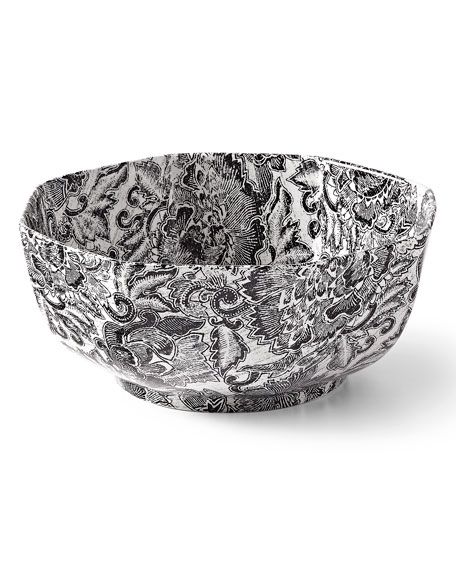 Ralph Lauren Home Faded Peony Octagonal Bowl