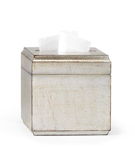 Labrazel York Silver Tissue Box Cover