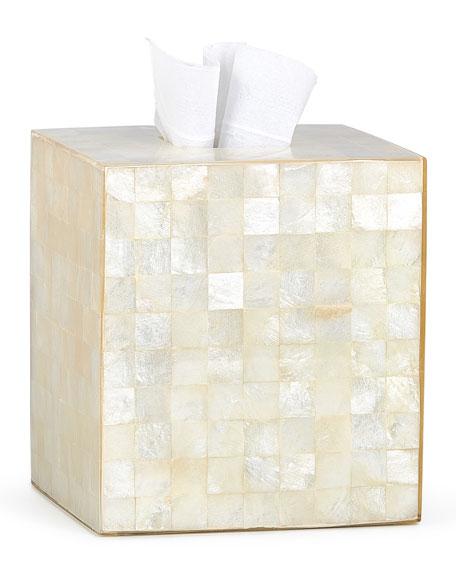 Labrazel Capiz Ivory Tissue Box Cover