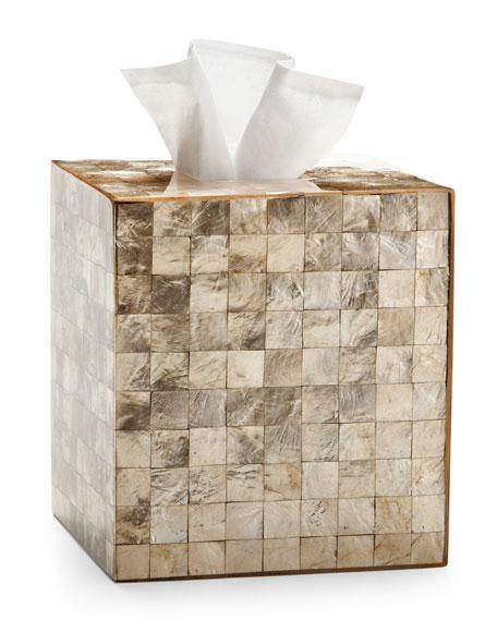 Labrazel Capiz Champagne Tissue Box Cover