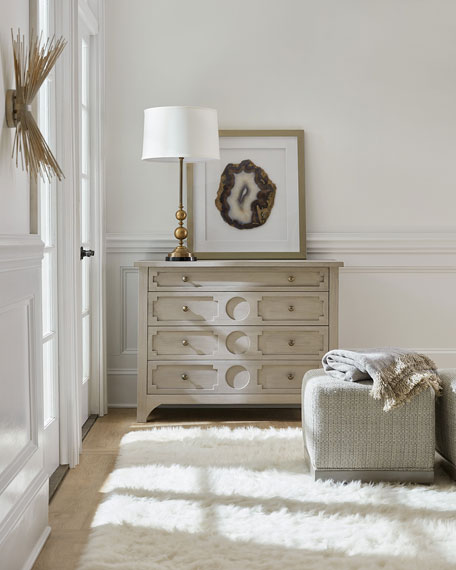 Image 1 of 4: Hooker Furniture Lira 4-Drawer Accent Chest