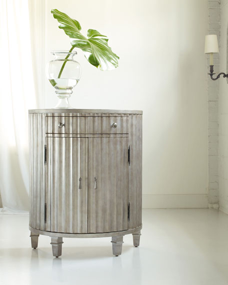 Hooker Furniture Abby Fluted Demilune Chest