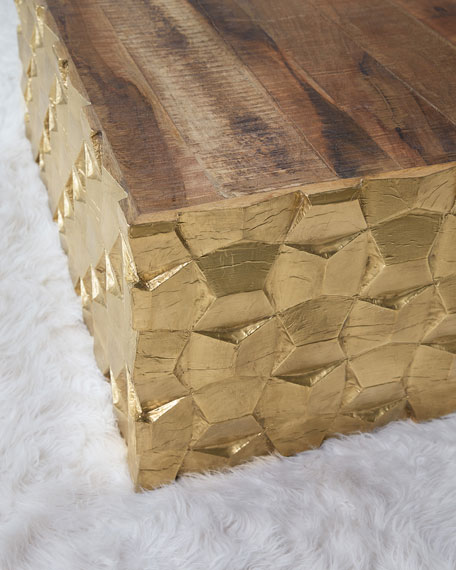 Hooker Furniture Brass Foil End Table