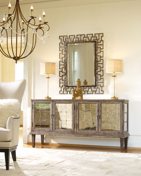 Hooker Furniture Derreth Antiqued Mirrored Console
