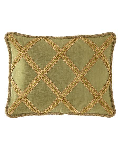 Dian Austin Couture Home Botanical Lattice Oblong Pillow