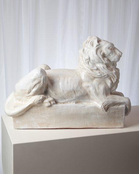 Global Views Lion Italian Ceramic Sculpture