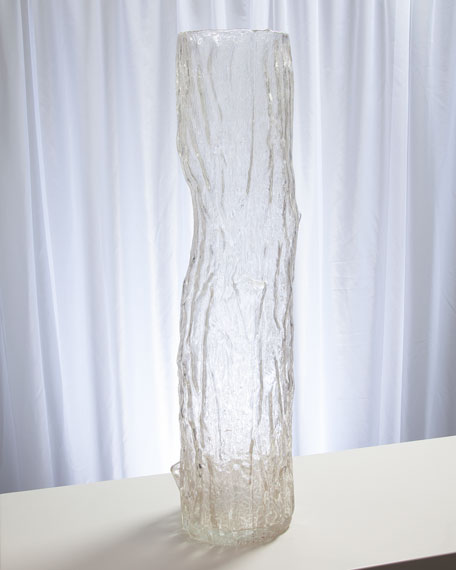 Image 2 of 3: Global Views Faux Bois Glass Large Vase