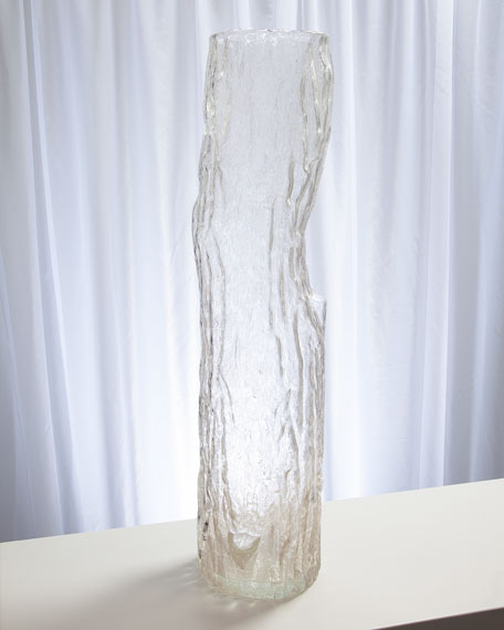 Image 1 of 3: Global Views Faux Bois Glass Large Vase