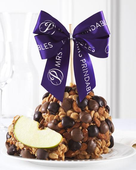 Mrs Prindable's Double Chocolate Peanut Butter Almond Jumbo Caramel Apple