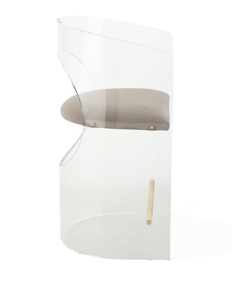 Interlude Home Corin Acrylic Counter Stool