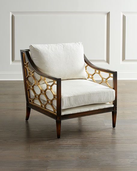 Image 1 of 3: John-Richard Collection Belden Place Honeycomb Chair