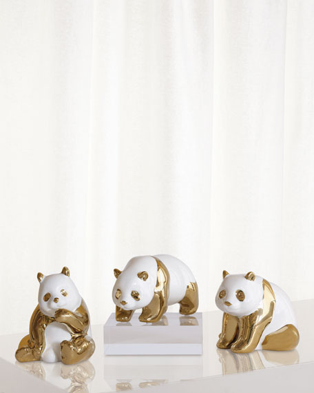 Port 68 Panda Objects, Set of 3