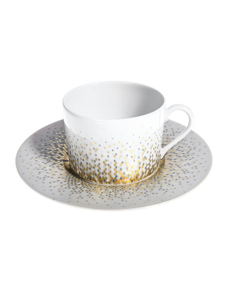 Haviland Souffle d'Or Teacup and Saucer