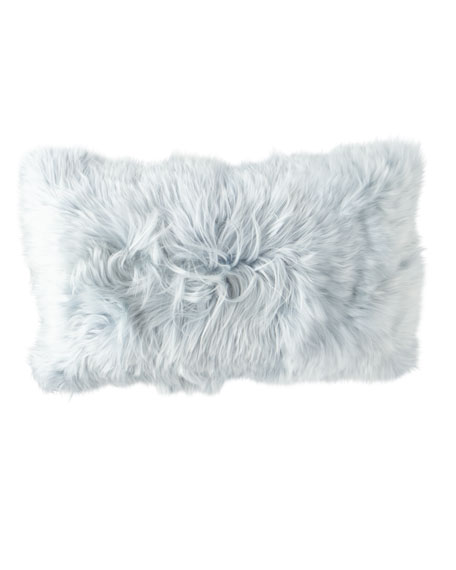 Aviva Stanoff Suri Alpaca in Celestite Pillow