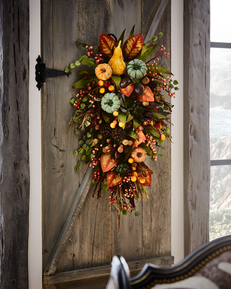 "Autumn Harvest 30"" Door Spray"