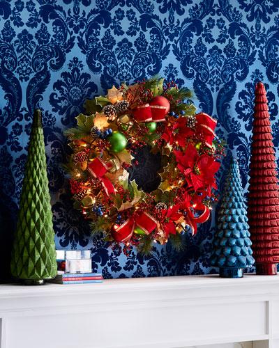 Classic 28 Prelit Wreath