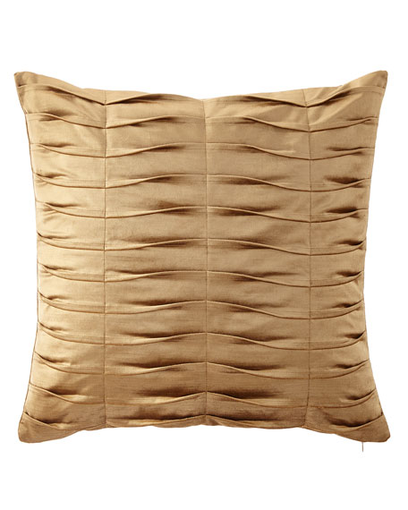Dian Austin Couture Home Emporium Pleated Velvet European Sham, Gold