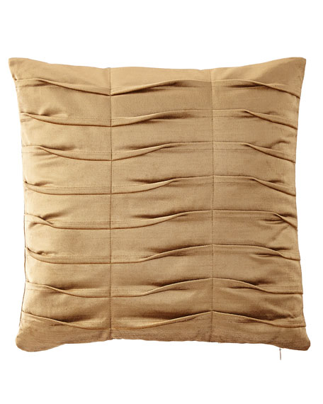 Dian Austin Couture Home Emporium Pleated Velvet Boutique Pillow, Gold