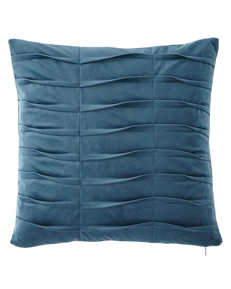 Dian Austin Couture Home Emporium Pleated Velvet Boutique Pillow, Teal