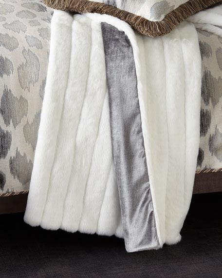 Sweet Dreams Faux Fur White Mink Throw