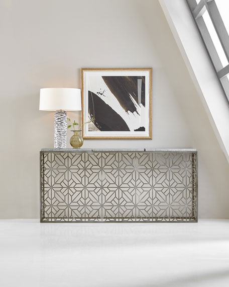 Hooker Furniture Laser Cut Metal Console Table