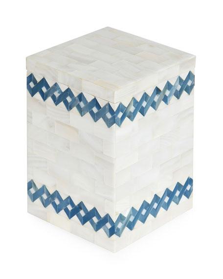 SV Casa Blue Weave Lidded Box